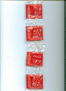 Coca Cola olympic pin set McDonalds 2014 Sochi olympics 4 Pin set mint in packag