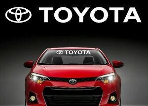 Toyota Windshield Banner Decal Vinyl Sticker Trd Corolla Camry Tundra Celica