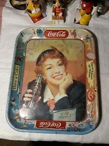 Vintage Coca-Cola 1940's or 50s Metal Serving Tray