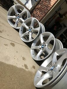 19 Inch Oem Bmw Sport Alloy Rims Staggered 335i Sold Individually