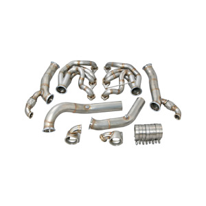 Cxracing Twin Turbo Manifold Header Downpipe For 60 66 Chevy C10 Truck Sbc