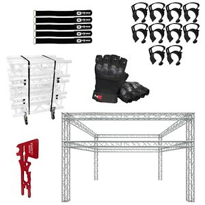 Global Truss 20 x20 Double Tier F34 Truss Lighting Trade Show Booth Package