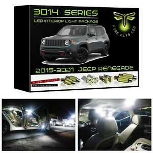 White Led Interior Lights Package Kit For 2015 2021 Jeep Renegade 3014 Smd tool