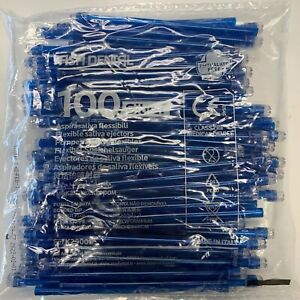 2000 Blue Clear Dental Saliva Ejectors Disposable 20 Bags 100 made In Italy