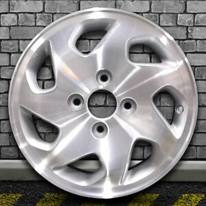 Machined Medium Sparkle Silver Oem Wheel For 1998 2000 Honda Accord 15x6