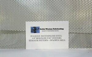 1 4 Holes 20 Gauge 304 Stainless Steel Perforated Sheet 16 X 16