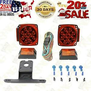 Boat Trailer Led Light Kit 12v Stop Tail And Turn Signal 23 foot Wiring Harness