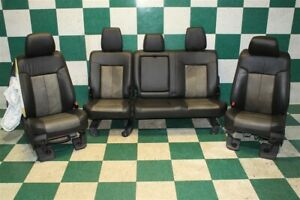 note 11 16 F250 Black Tan Crew Leather Power Front Buckets Rear Bench Seats Oem