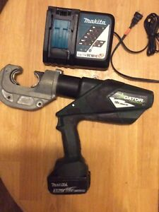 Greenlee Gator Ek1240lx Battery Hydraulic Crimper U Die Ek 1240 Crimping Tool
