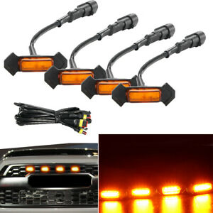 4pack Trd Grill Led Amber Grille Led Lights Fits For Toyota Tacoma 2016 2019