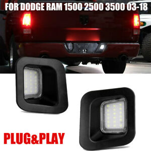 Led License Plate Rear Bumper Lights Lamps For Dodge Ram 1500 2500 3500 2003 18