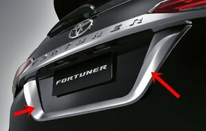 Toyota Fortuner 2015 Genuine Chrome License Plate Frame Cover Trim