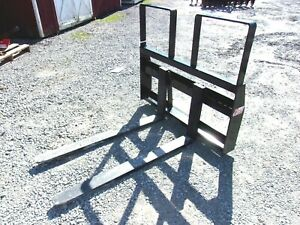 New Kivel Mfg Pallet Fork For Skid Steer Quick Attach Free 1000 Mile Delivery