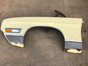 1971 1972 Ford Ltd Brougham Front Fender Ford Driver Side