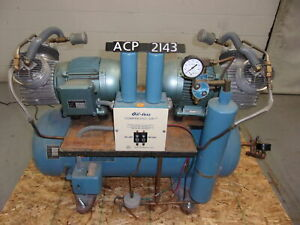 Air Techniques Inc Oil Free Dental Air Compressor A6t 2 Hp 230v acp2143