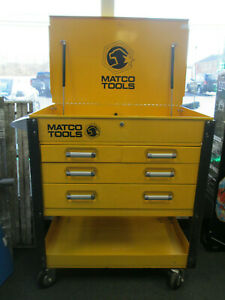 Matco Tools Heavy Duty 4 Drawer Service Cart Tool Box Yellow Pickup Only