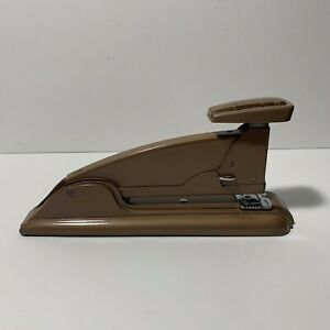 Vintage Swingline No 4 Tan Speed Stapler Art Deco Office Desk Accessory