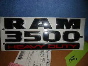 Dodge Ram Door Emblem Badges New Oem Ram 3500 Heavy Duty