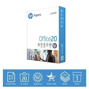 Hp Printer Paper Office 20 8 5 X 11 Copy Print Letter Size 500 Sheets 1 Ream Usa