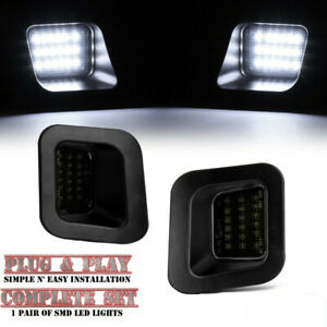 Led Rear License Plate Lights For 2003 2018 Dodge Ram 1500 2500 3500 Smoked Lens