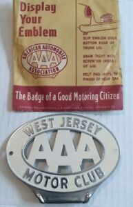Aaa West Jersey Motor Club Nj Trunk License Plate Tag Topper Rat Rod
