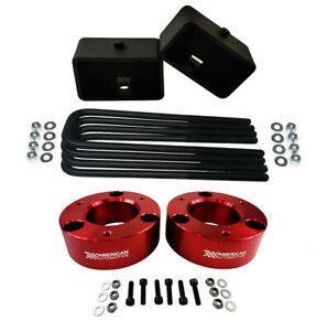 3 Front 3 Rear Full Lift Leveling Kit 07 Chevy Silverado Sierra 1500 Red