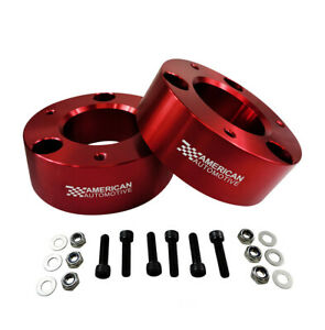 3 Front Leveling Lift Kit For 07 Chevy Gmc Silverado Sierra 1500 2wd 4wd Red