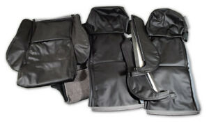 84 88 Corvette Black Driver Leather Sport Seat Covers No Perforations 483920