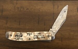 Vintage 1982 Worlds Fair Coca Cola Pocket Knife by Ideal