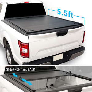 2010 2020 F 150 5 5ft Truck Bed Retractable roll up Hard Tonneau Outdoor Cover