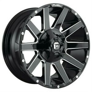 4 New 18x9 Fuel Contra Gloss Black Milled 5x114 3 D61518902645