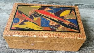Cool Vintage Art Deco Decorated Box Maybe For Cigarettes