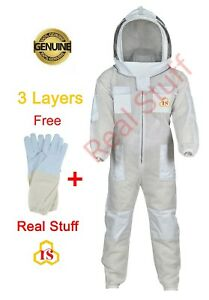 Ultra Ventilated Beekeeping Beekeeper Ful Suit Fancy Veil Sting Safety xl