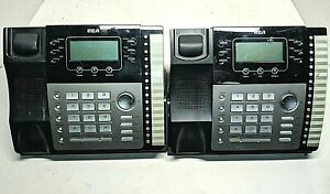 Lot Of 4 Rca Visys 25423re1 25424 4 line Business Phone System Base