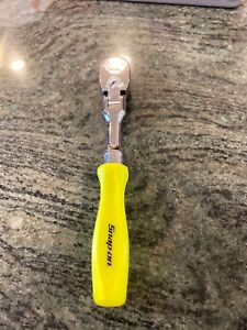 Snap On Hi Viz Yellow 3 8 Drive Flex Head Hard Handle Ratchet Fhfd80a