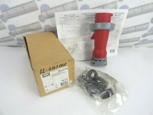 Hubbell Hbl430p7w Pin And Sleeve Plug Iec 6309 30a 3 Phase 480vac new