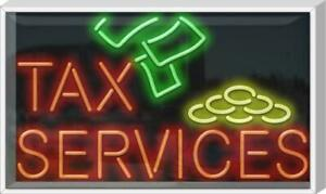 Outdoor Tax Services Neon Sign Outdoor Jantec 37 X 22 Taxes Finances