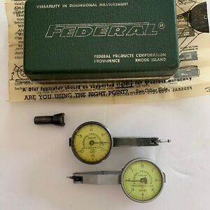Federal Testmaster M5 001 And T2 0001 Dial Indicators One Box See Pics