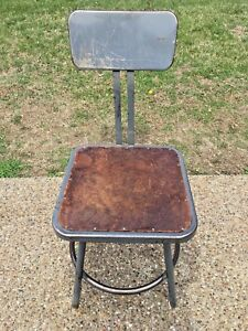 Vintage Royal Metal Mfg Co Royalchrome Industrial Shop Factory Stool Chair