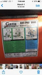 Curtis Sno pro 3000 Snow Plow 7 Poly Plow used just Plow