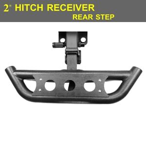 2 Hitch Receiver Hitch Step Guard Protector Rear Bumper Textured Black
