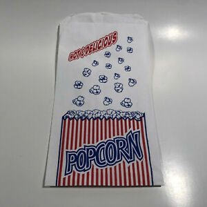 Popcorn Bags 1 1 2 ounce Duro Bag Popcorn Bags 25 Count 11x6x5 New