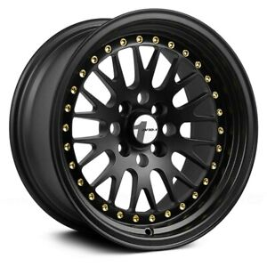 Avid 1 Av 12 Wheels 15x8 25 4x100 73 1 Black Rims Set Of 4
