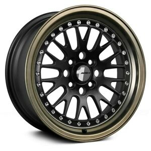 Avid 1 Av 12 Wheels 15x8 25 4x100 73 1 Bronze Rims Set Of 4