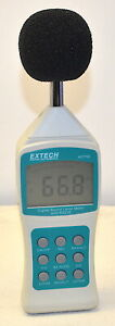 Extech 407750 Digital Sound Level Meter With Case used Working