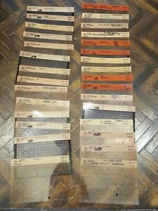 John Deere Lawn Tractors And Mowers Microfiche Fiche Manual Lot Of 30 Models