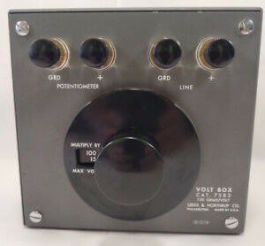 Vintage Leeds Northrup Cat 7582 Volt Box 750 Ohm
