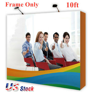 10ft Tension Fabric Pop Up Display Backdrop Stand Trade Show Booth Frame Only