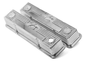 Holley Sbc M T Valve Cover Set Polished P N 241 82