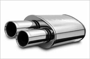 Magnaflow Perf Exhaust Stainless Muffler 2 25in In Dual 3in Tips Out P N 148